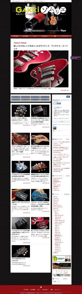 楽器の魅力を伝えたい! GAKKI ソムリエ In Association with Player  価値ある楽器を続々レビュー! 楽器の専門家たちによる楽器レビューの本格的サイト!